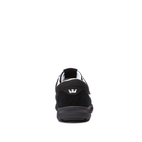 Supra Mens HAMMER RUN Black Low Top Shoes | CA-92457